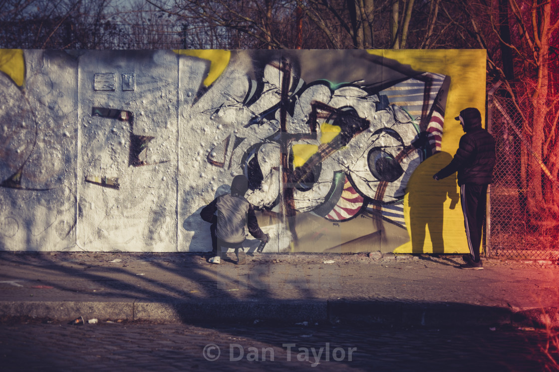 """Street Artists in Berlin"" stock image"