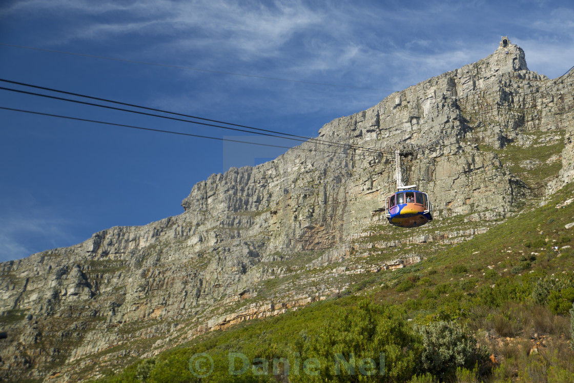 """The Table Mountain Cable Way"" stock image"