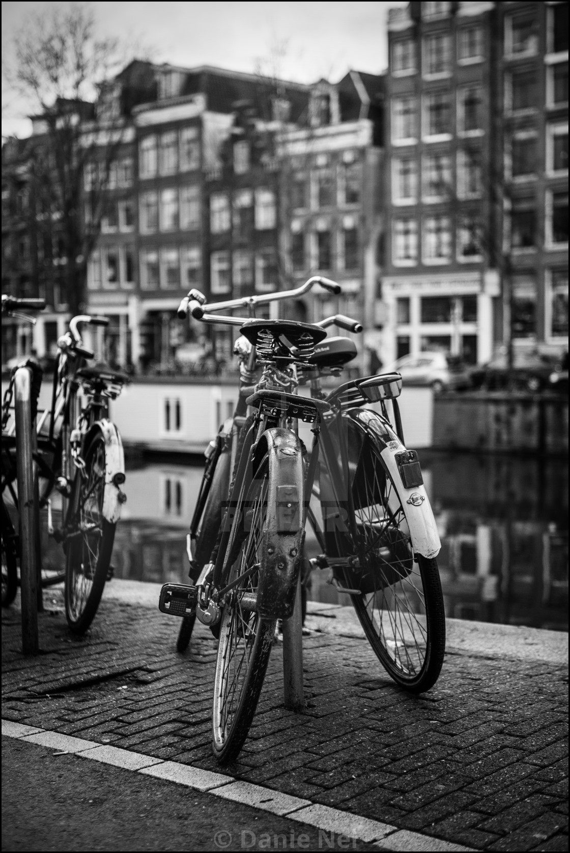 """""""Bicycles in Amsterdam"""" stock image"""