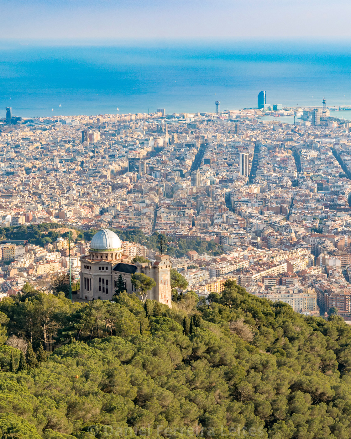 Aerial View Barcelona City Spain License Download Or Print For