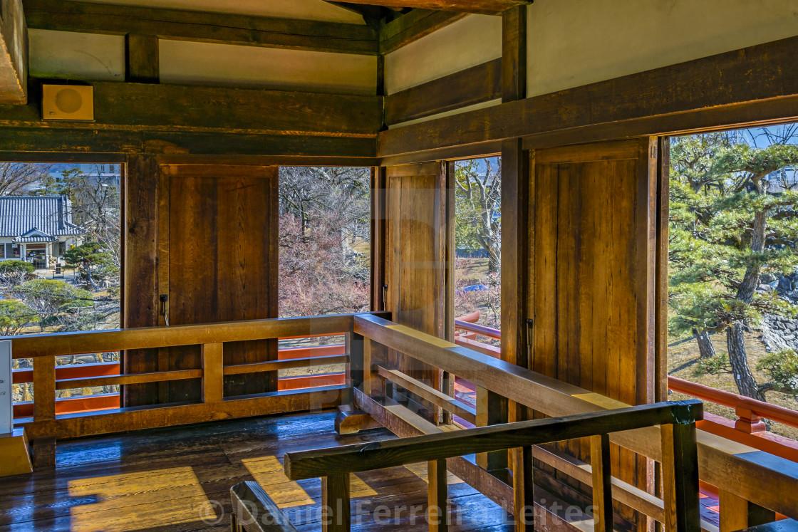 Matsumoto Castle Interior Nagano Japan License Download