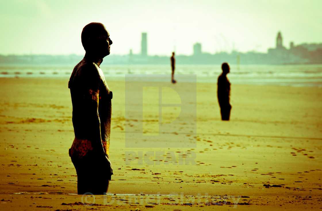 """Another Place Crosby Antony Gormley"" stock image"