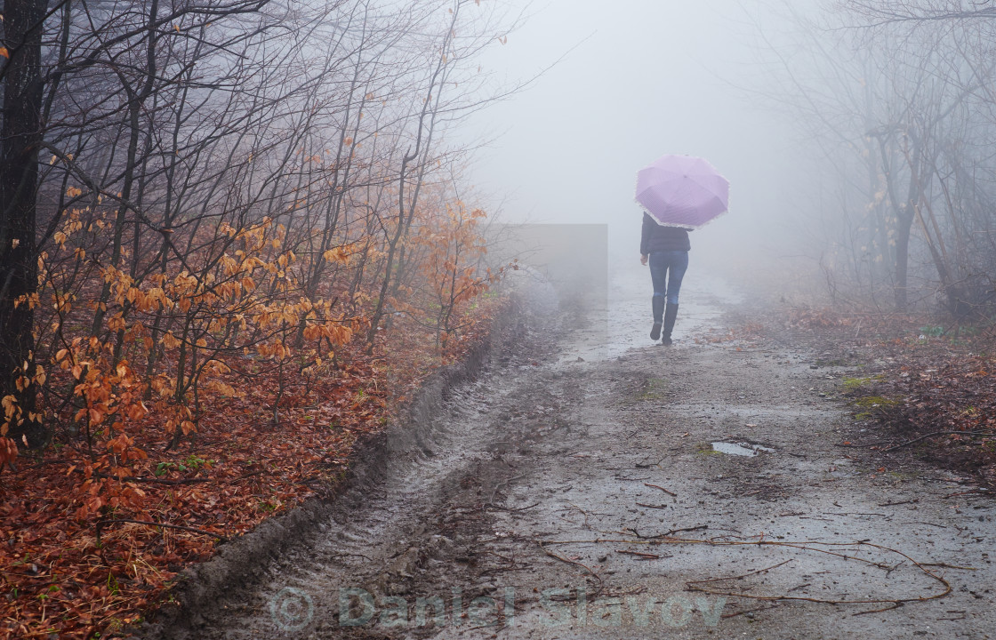 """Walking into the unknown"" stock image"