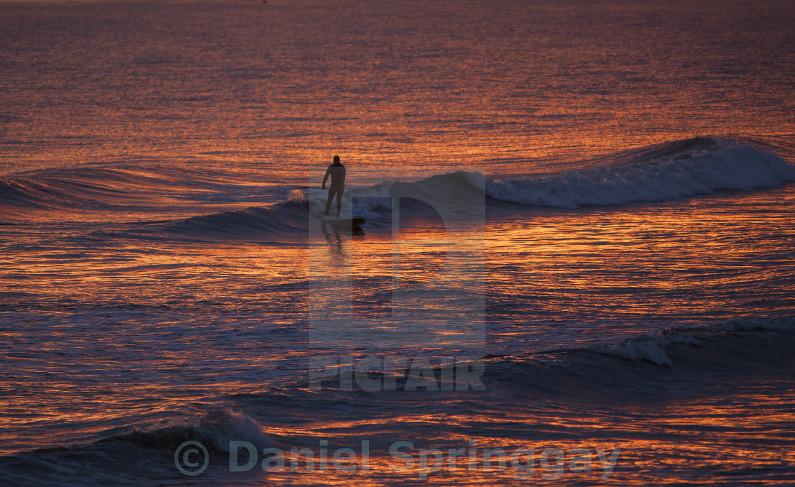"""Gold Surfer"" stock image"