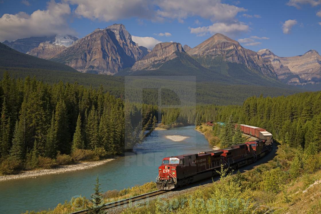 """Rocky Mountain Train"" stock image"