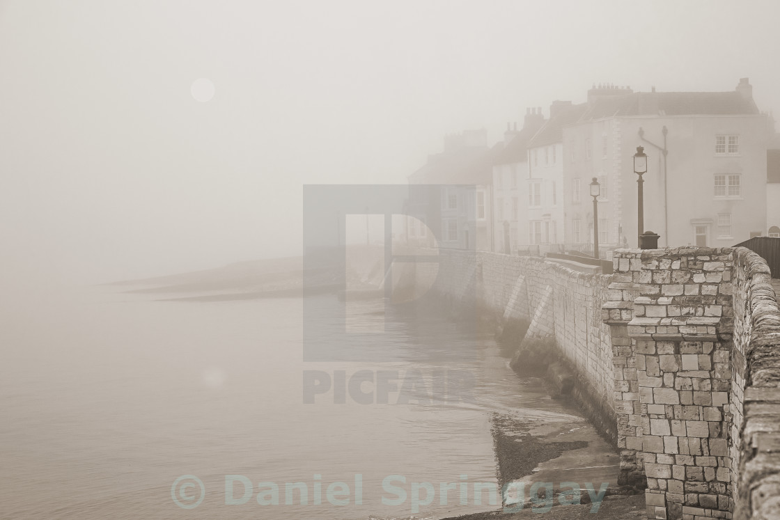 """The Old Sea Wall"" stock image"