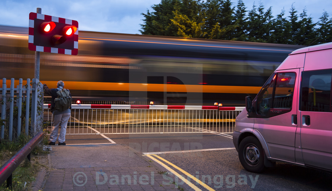"""The Level Crossing"" stock image"
