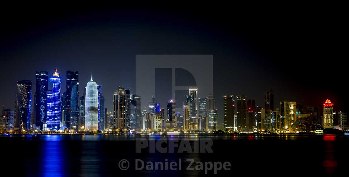 """Doha skyline"" stock image"