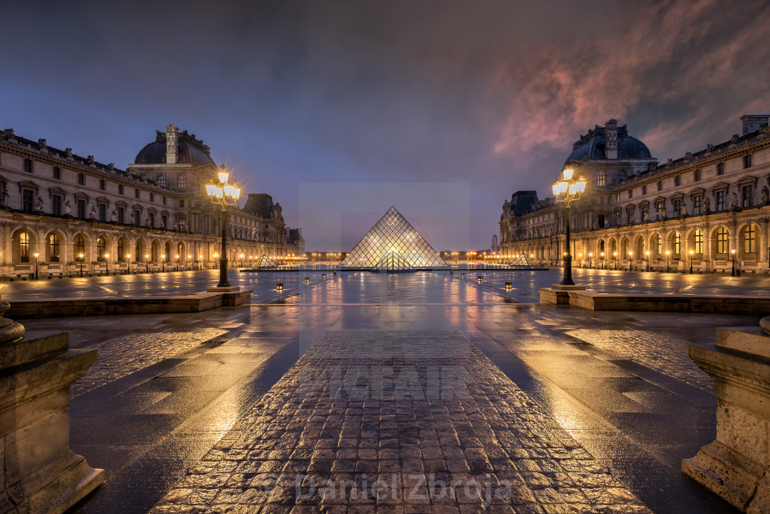 """Louvre symmetry"" stock image"