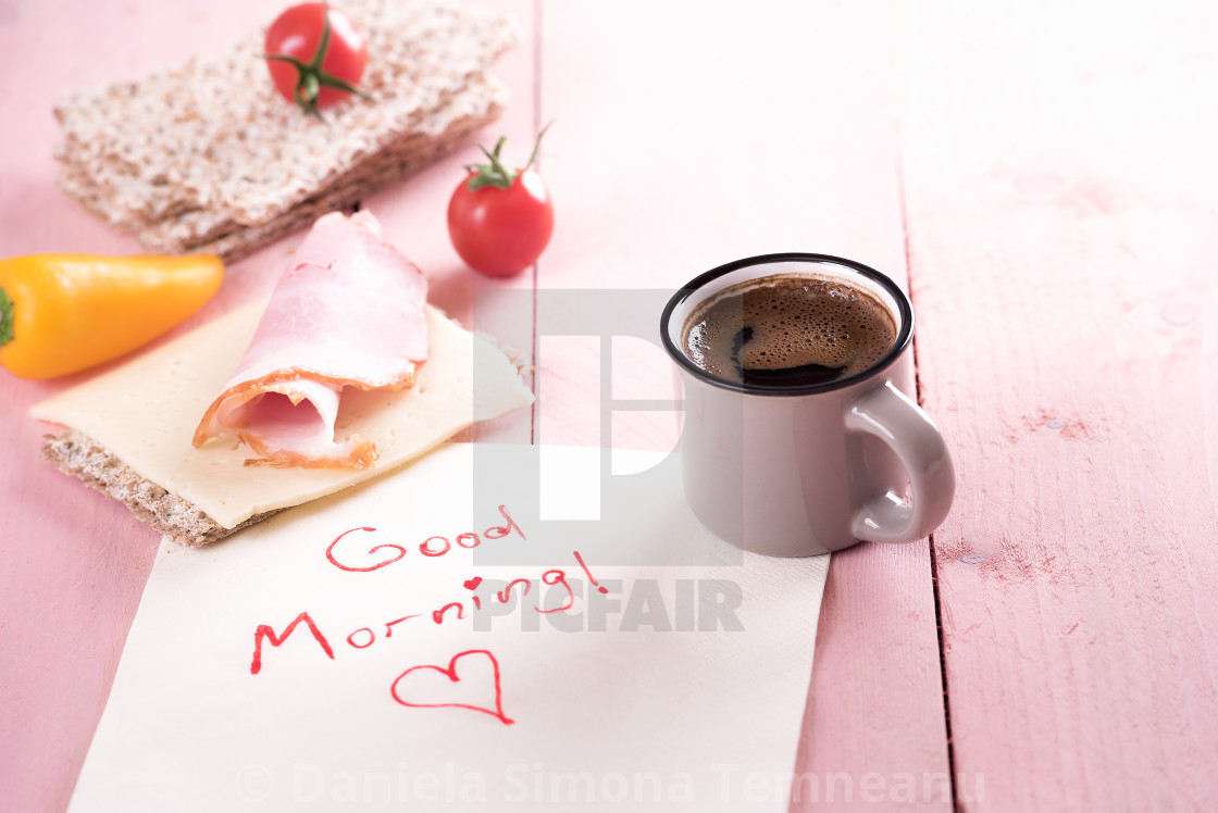 Healthy Sandwich And Good Morning Note License Download Or Print