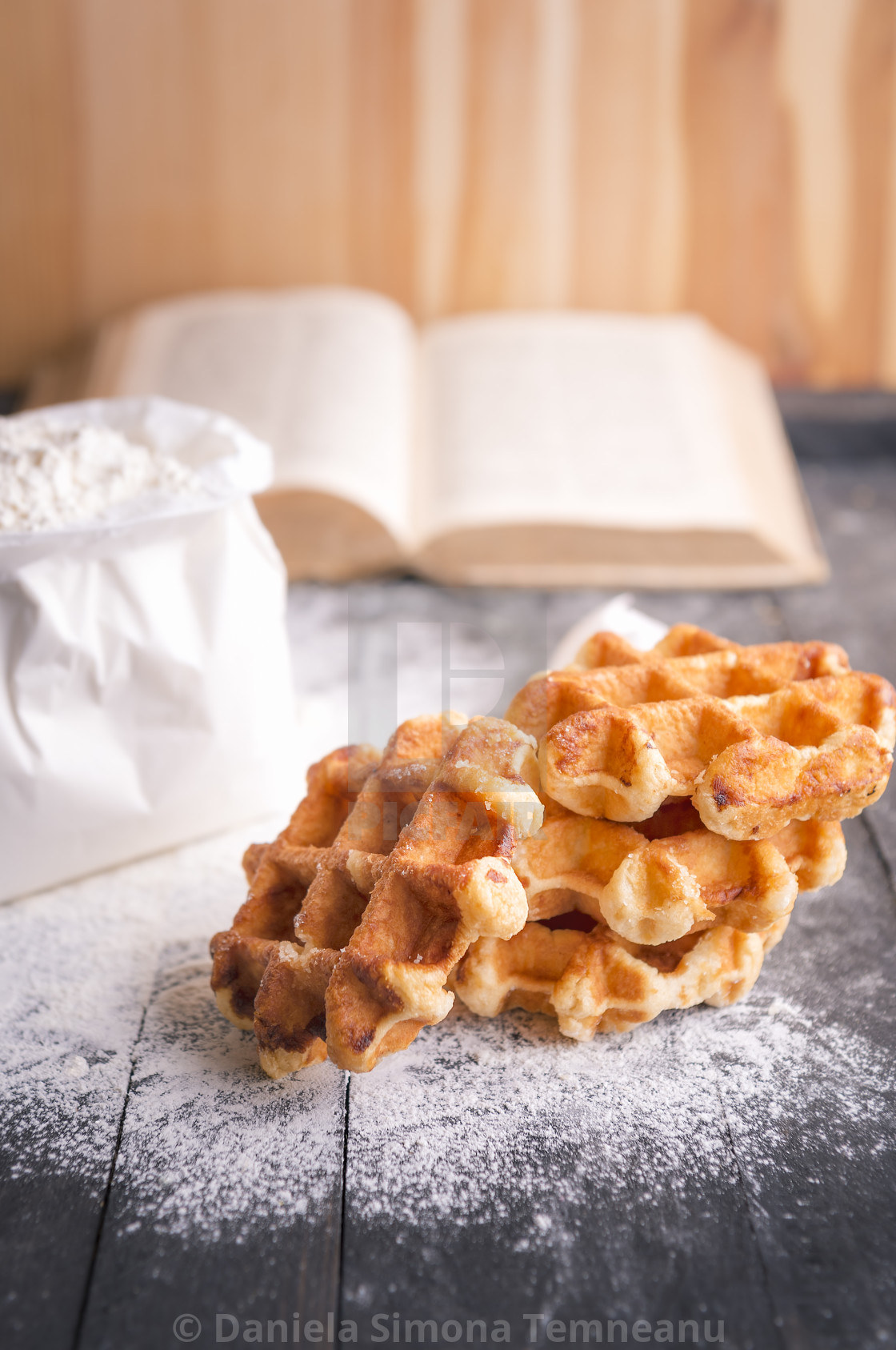 Homemade belgian waffles - License