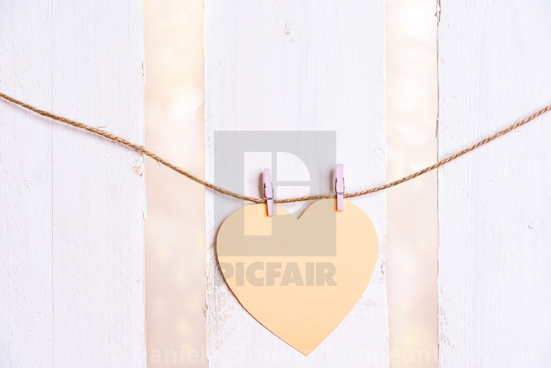 Heart Shaped Message Card On A String License For 1240 On Picfair