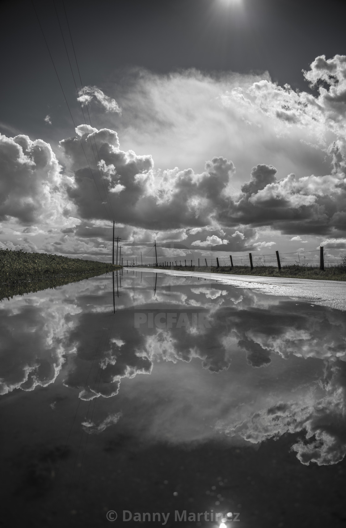 """Clouds before the rain"" stock image"