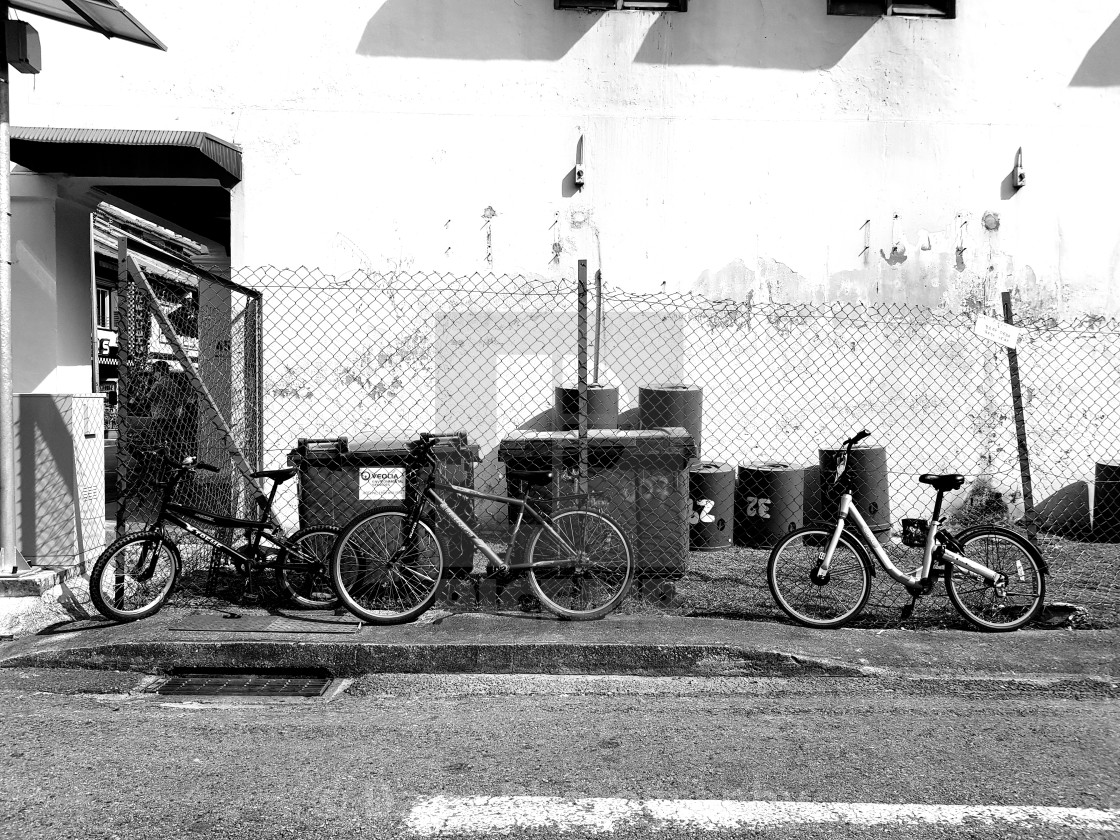"""Once Upon Three Bicycles"" stock image"