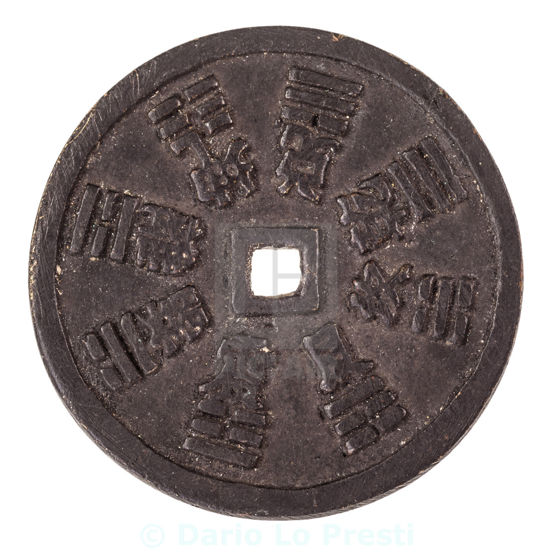 """""""Rusty ancient asian coin"""" stock image"""