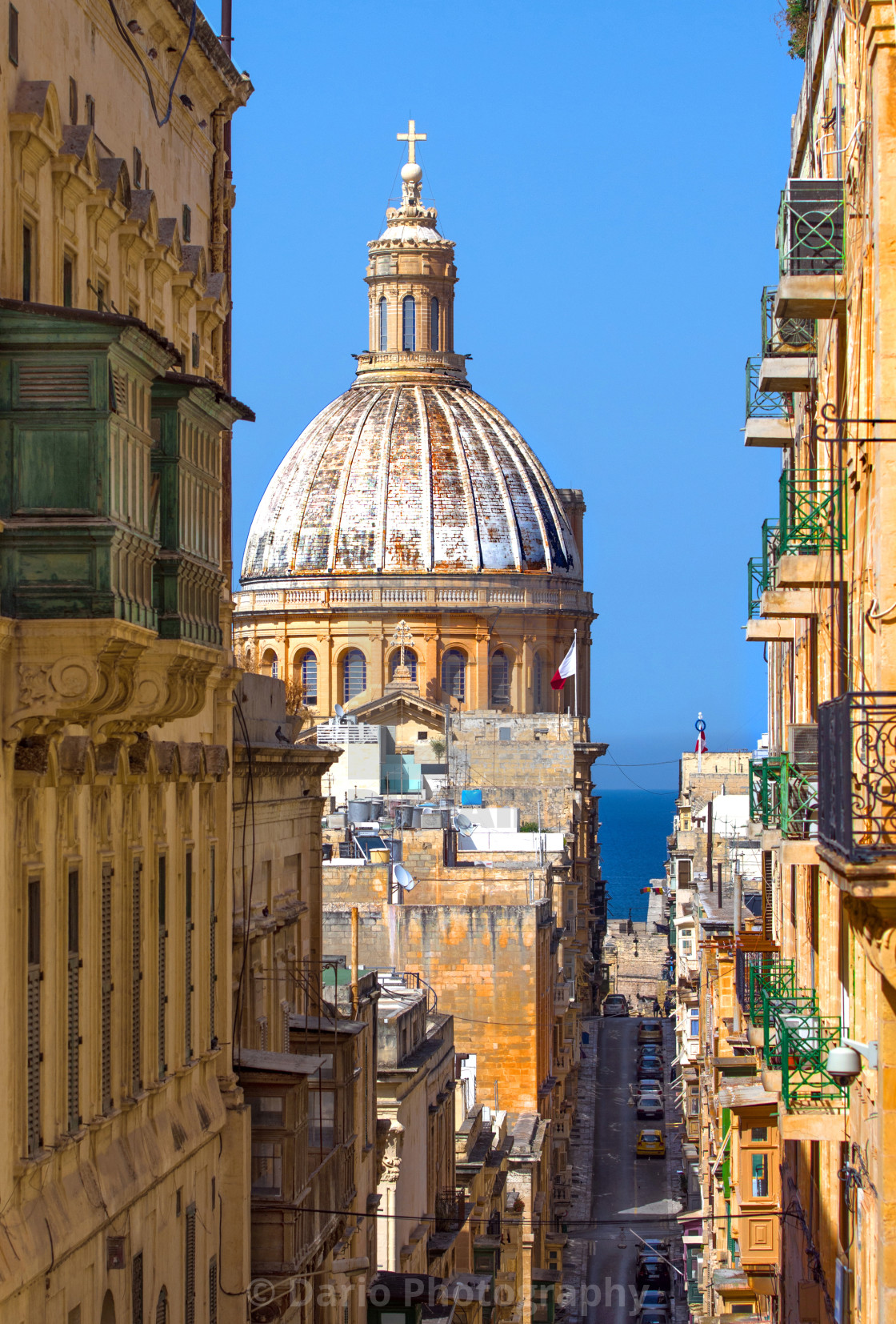 """Malta, Church of Our Lady of Mount Carmel"" stock image"