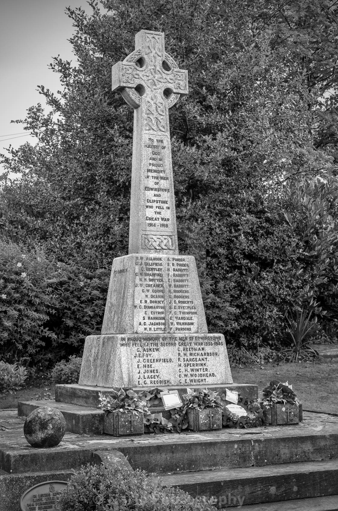 """Edwinstowe Great War Memorial"" stock image"