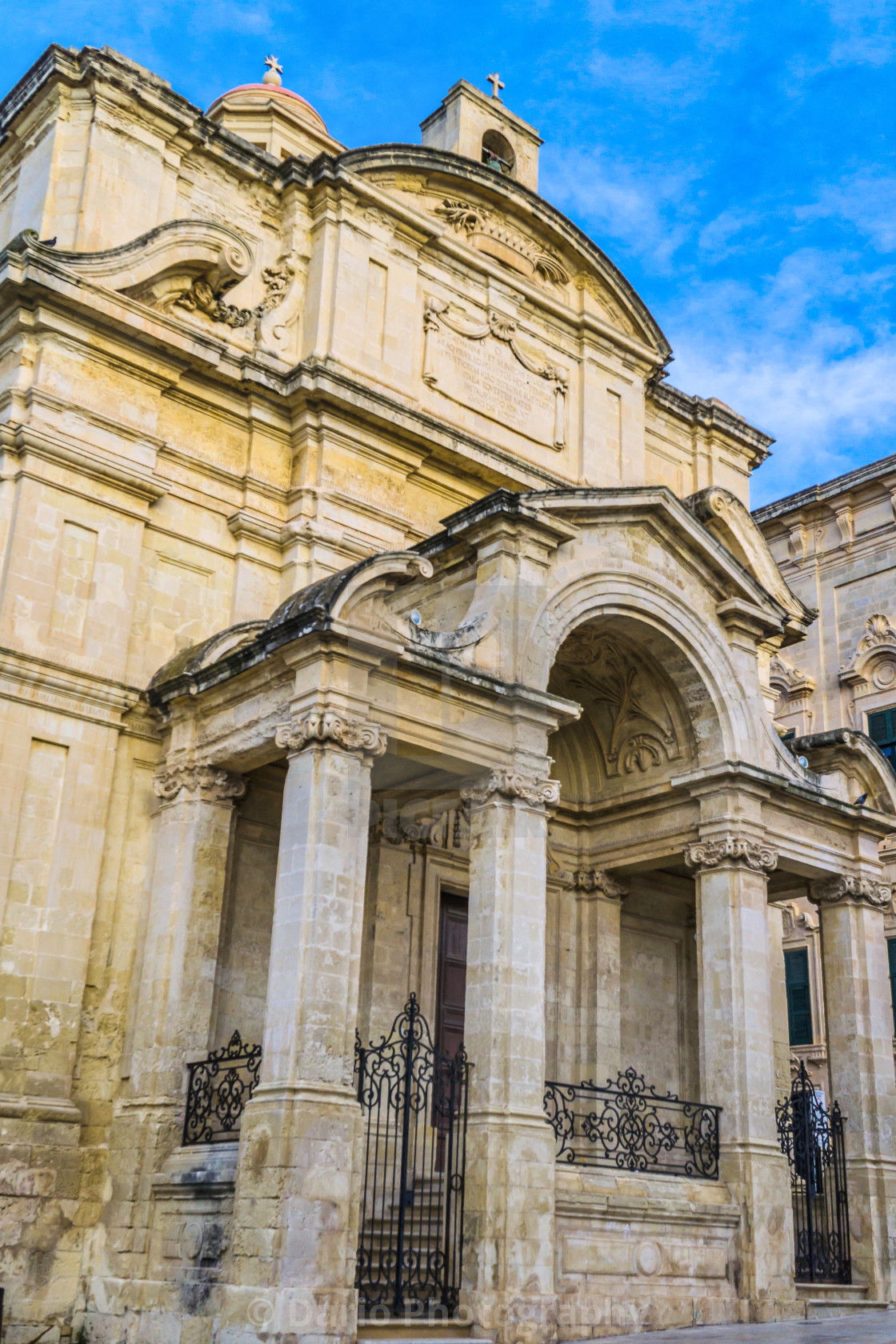 """Malta: St Catherine church"" stock image"