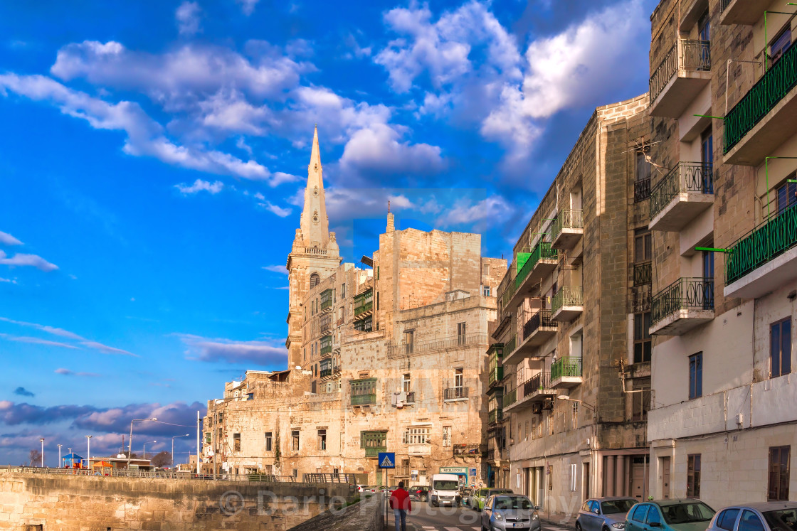 """""""Malta: Anglican Cathedral"""" stock image"""
