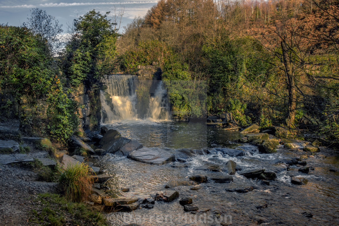 """Lovely waterfall in Penllergaer Valley Woods"" stock image"