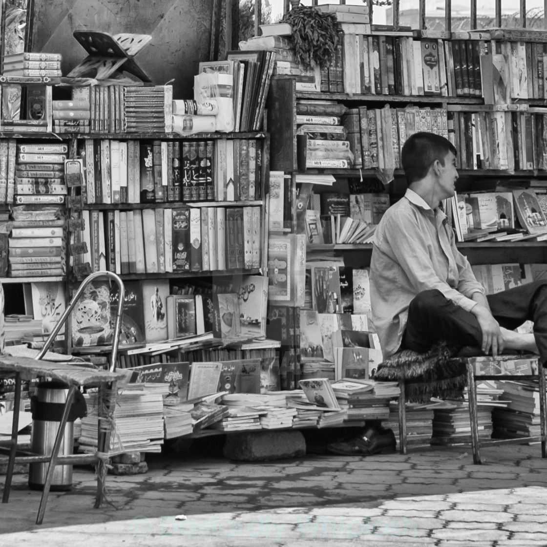 """""""The Bookseller"""" stock image"""