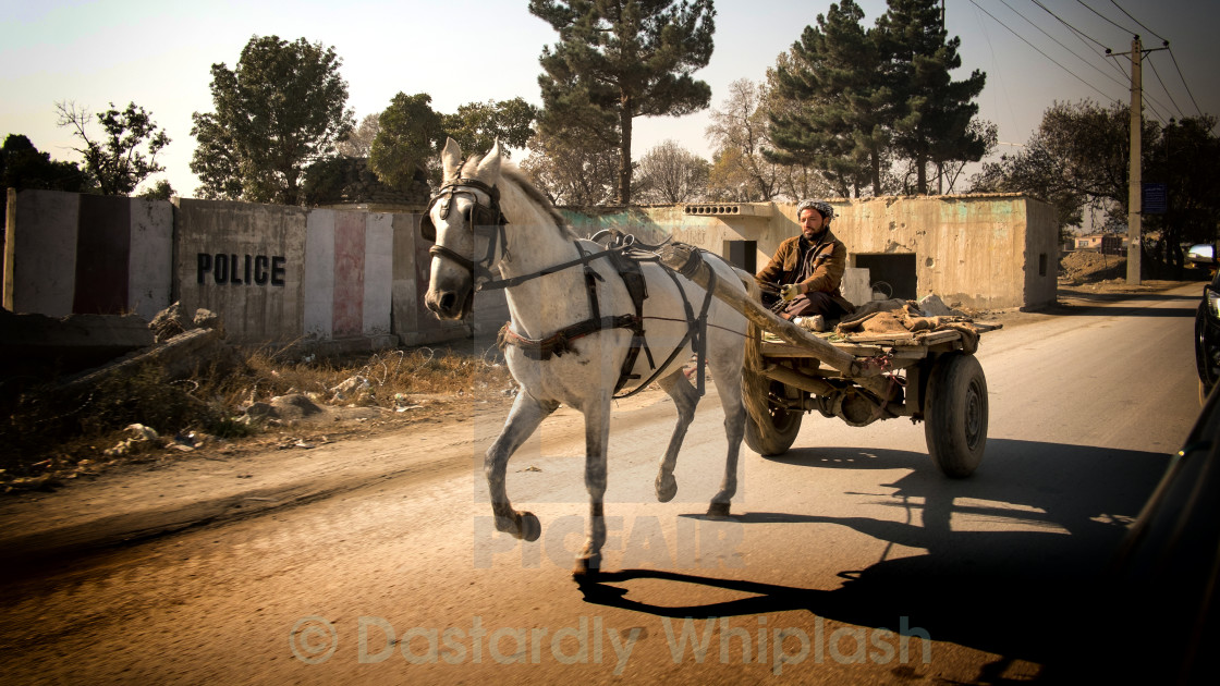 """Horse and Cart"" stock image"
