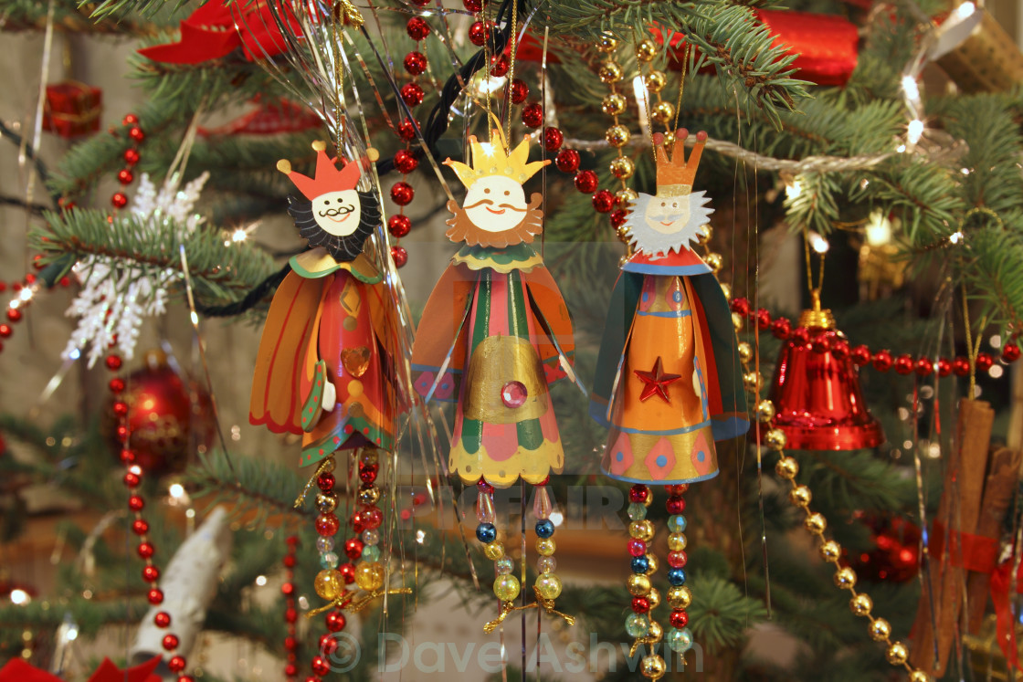"""three kings christmas decorations"" stock image"