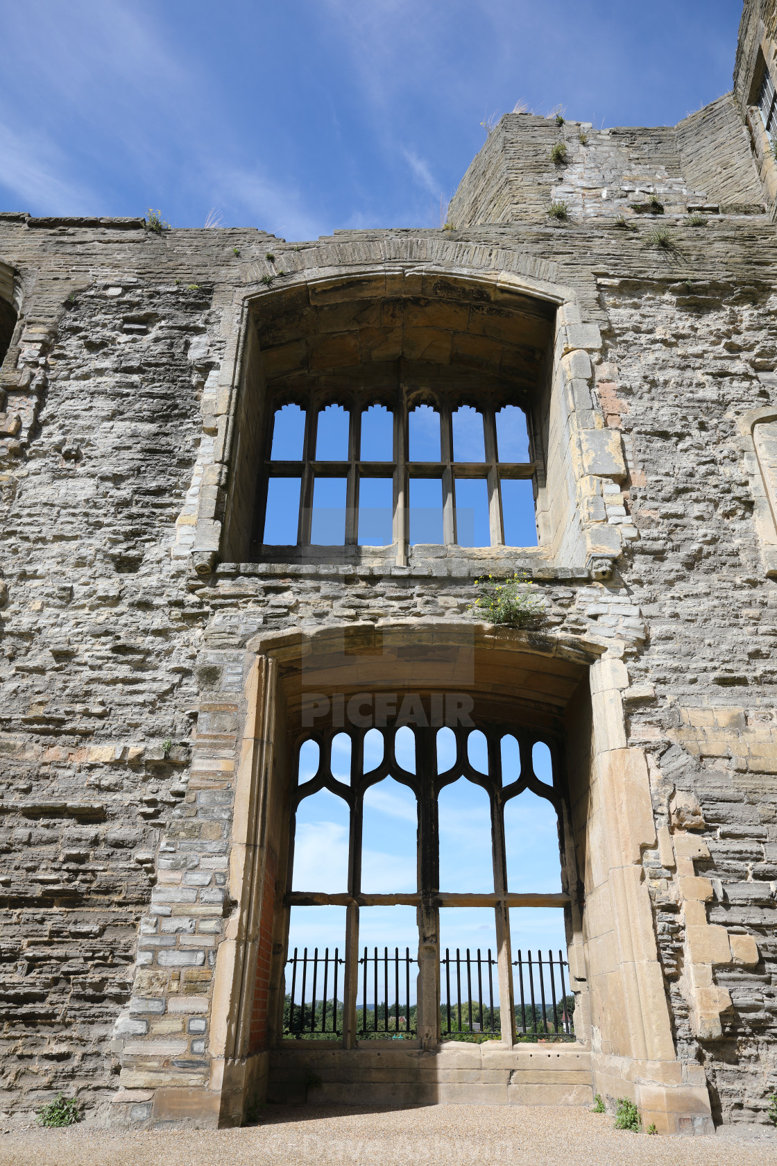 """Castle windows"" stock image"