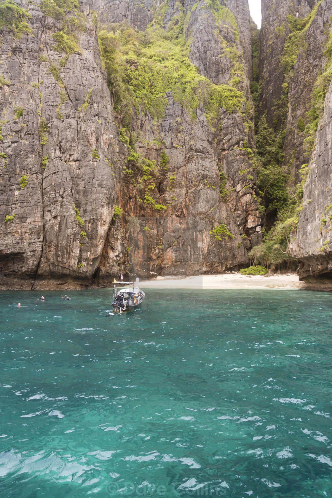 """""""Swimming off the Beach - Phi Phi Style"""" stock image"""