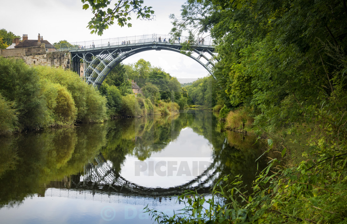"""The Iron Bridge in Ironbridge"" stock image"
