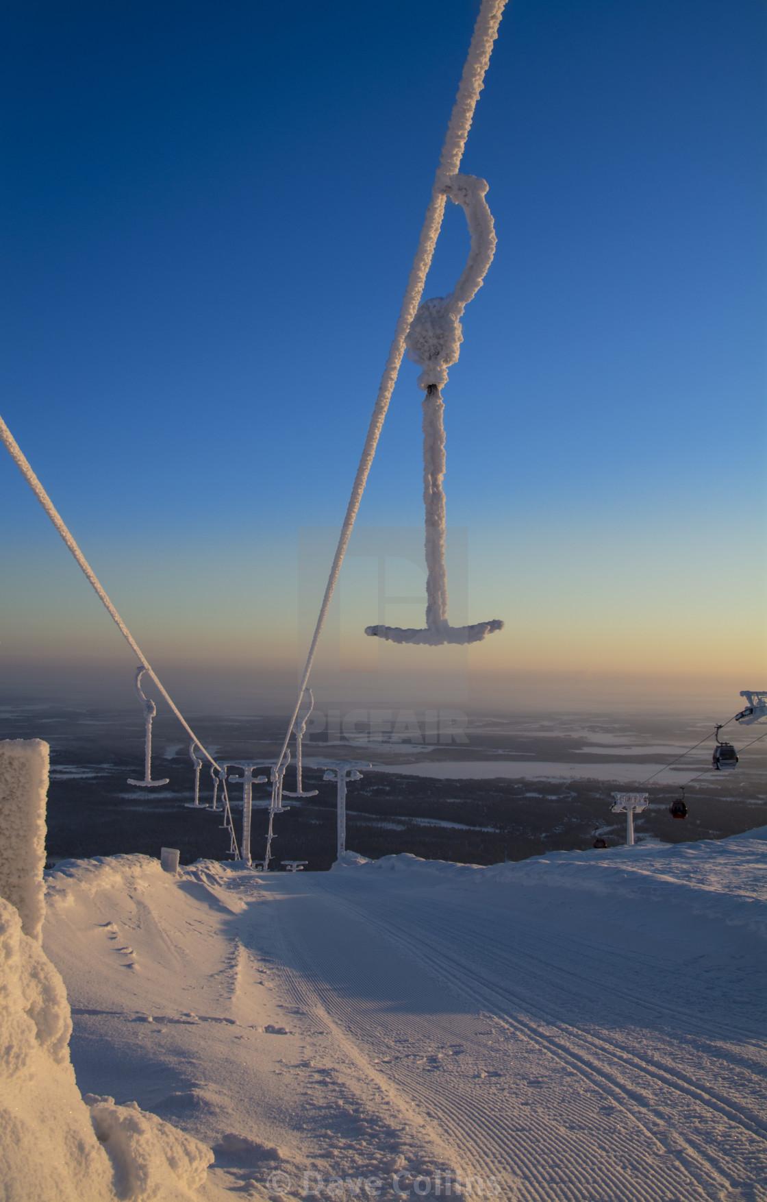 """Frozen Ski Lift"" stock image"