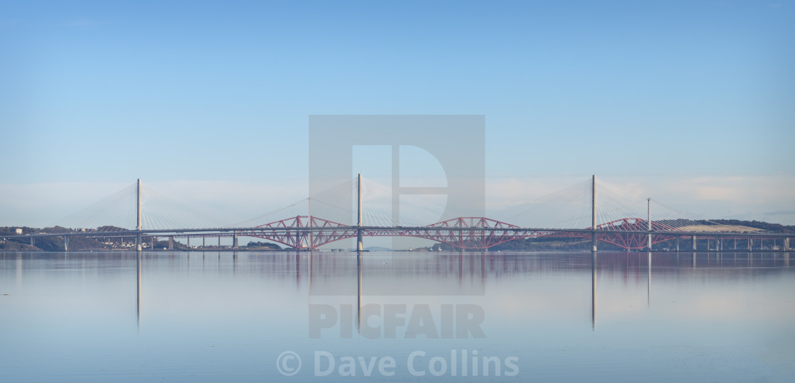 """""""Bridges over the Firth of Forth"""" stock image"""