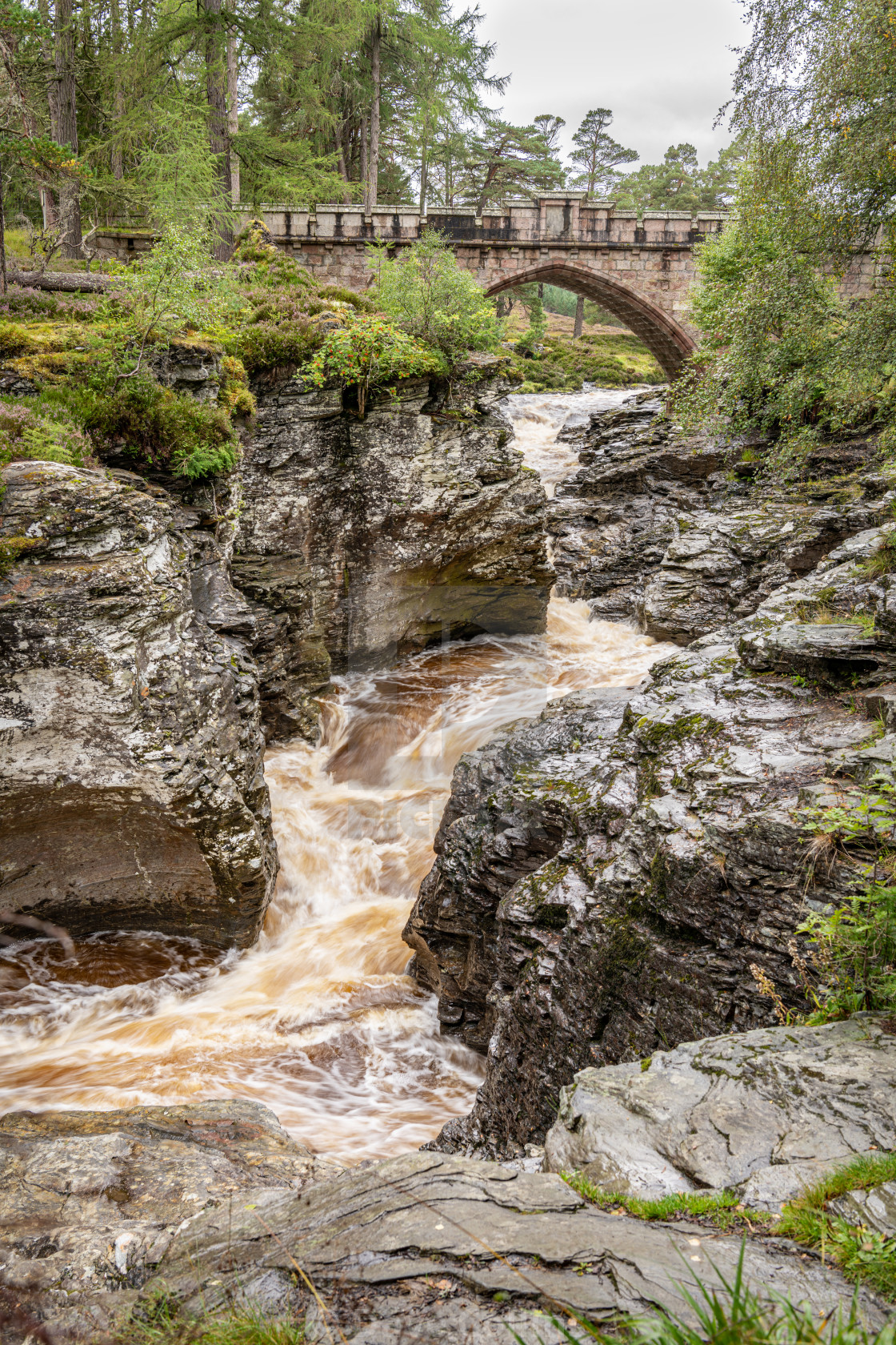 """River Dee, Linn of Dee, Mar Lodge Estate, Aberdeenshire, Scotland"" stock image"