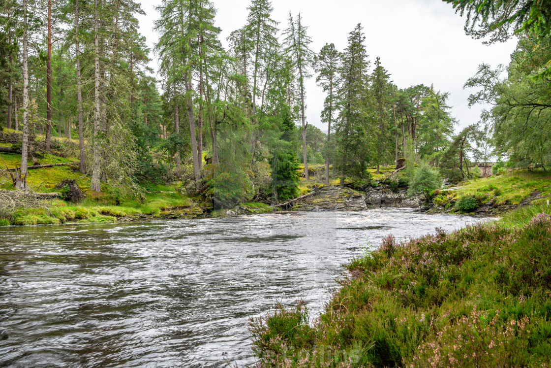 """River Dee, Linn of Dee, Mar Lodge Estate, Aberdeenshire, ScotlandRiver Dee, Linn of Dee, Mar Lodge Estate, Aberdeenshire, Scotland"" stock image"