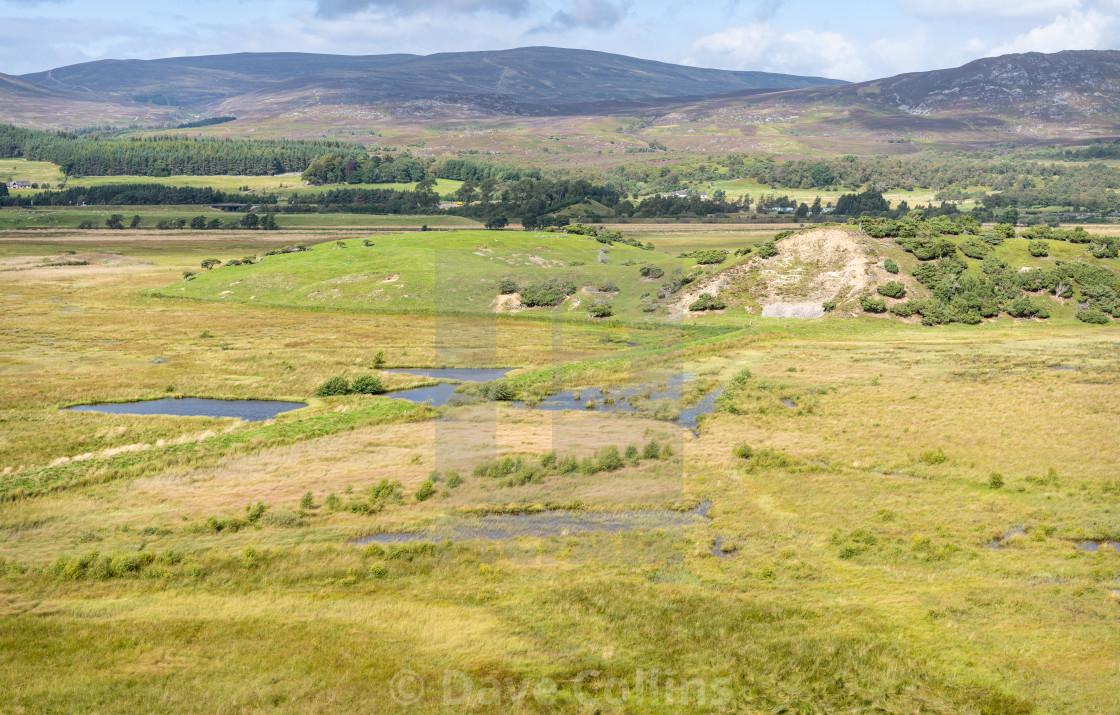 """RSPB Insh Marshes, Highlands, Scotland"" stock image"