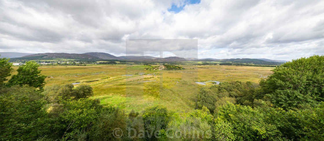 """RSPB Insh Marshes, Highlands, Scotland"" stock image"