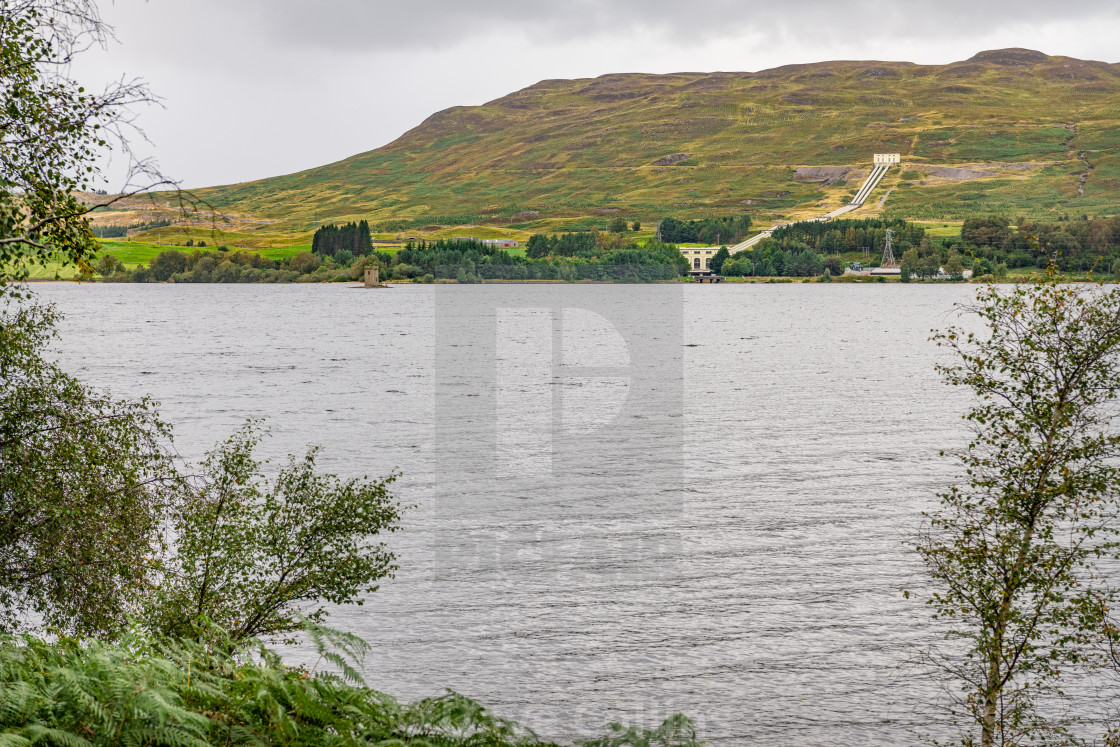 """""""Rannoch Hydroelectric Power Station"""" stock image"""