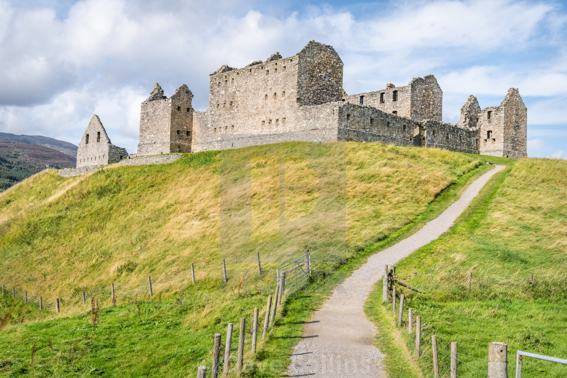 """Ruthven Barracks, Badenoch, Scotland"" stock image"