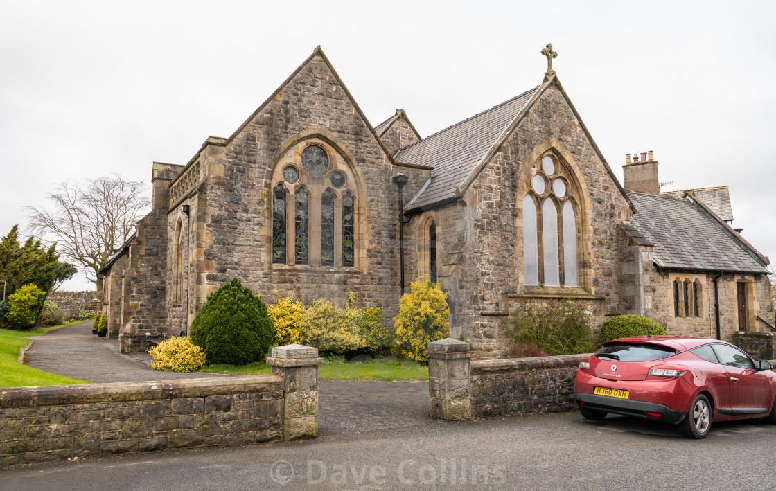 """St James' Church, Arnside, Lancashire, England"" stock image"