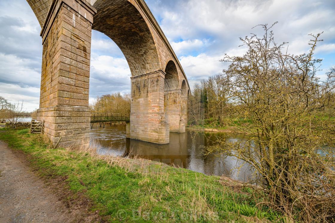 """""""Roxburgh Viaduct, River Teviot, Scottish Borders, UK"""" stock image"""