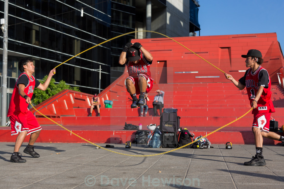 """2016 Australian Open - Melbourne Street Performers"" stock image"