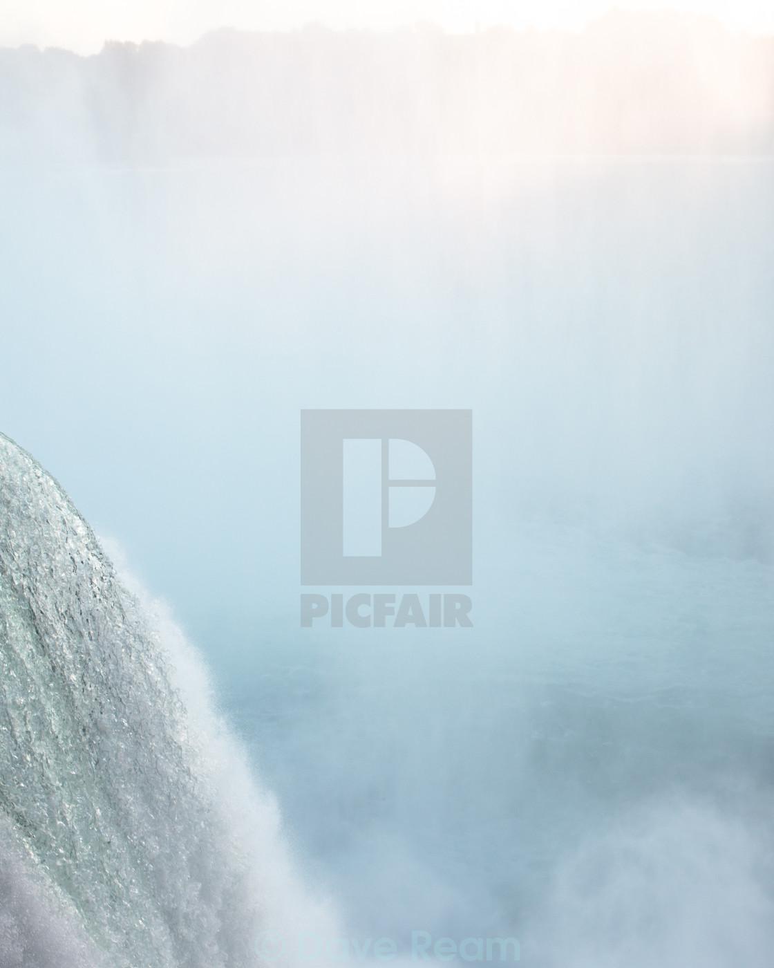 """Falling Water, Niagara"" stock image"