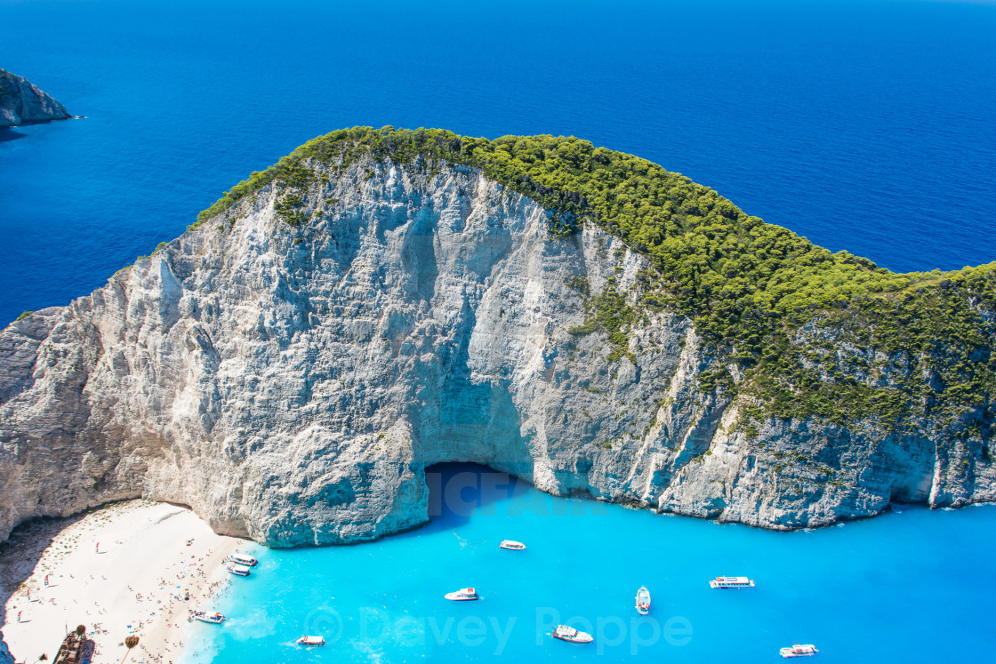 """Beautiful view of Navagio Beach in Zakynthos, Greece"" stock image"