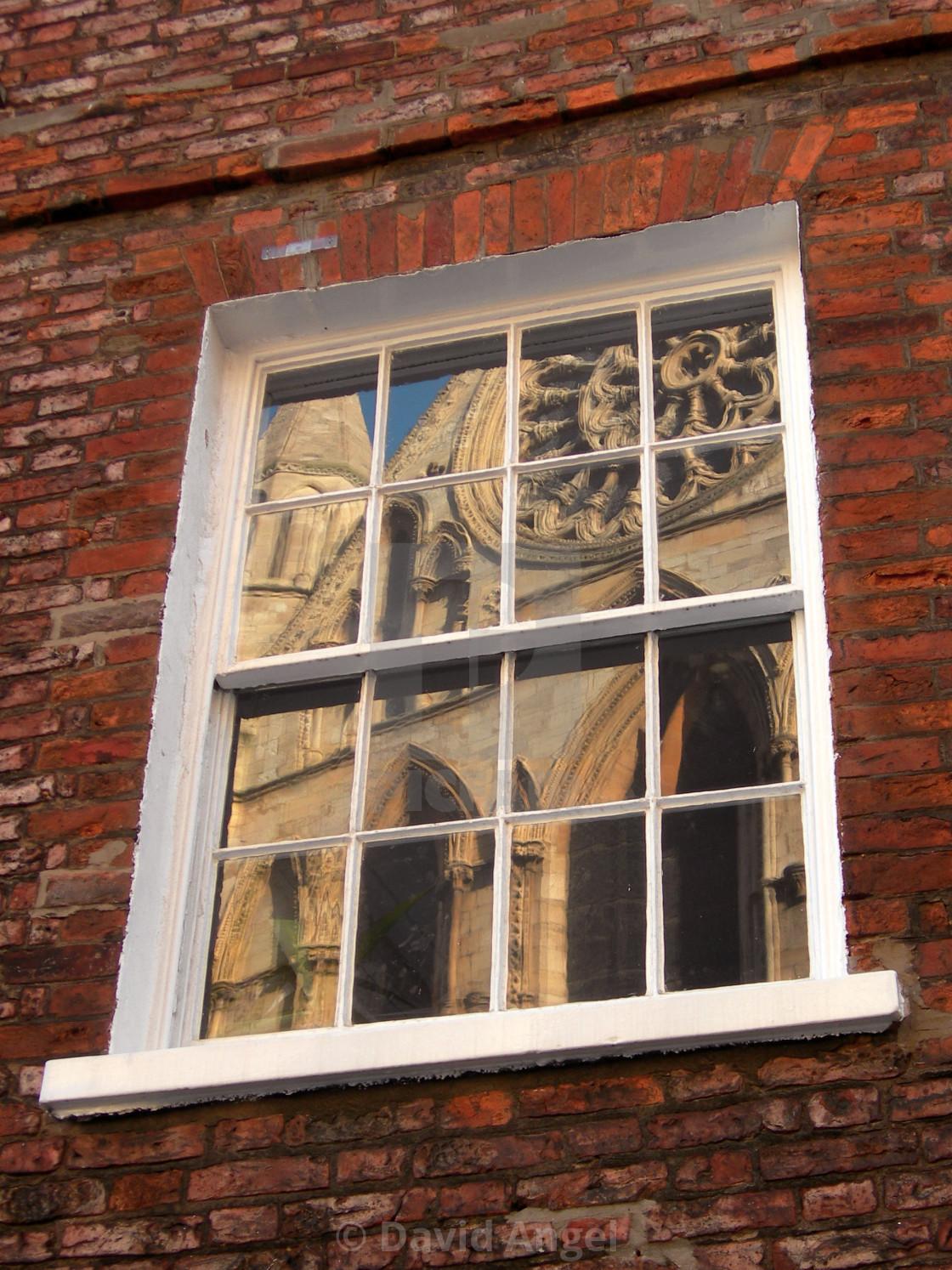 """Reflection of York Minster"" stock image"
