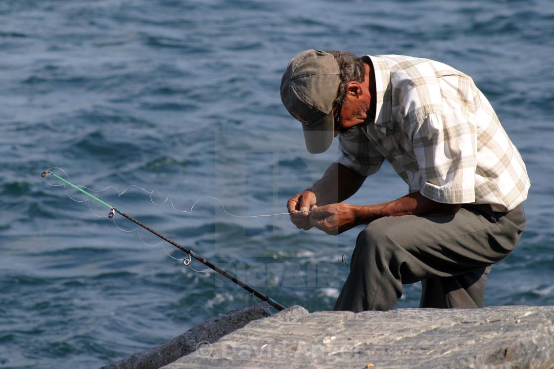 """Frustrated fisherman"" stock image"