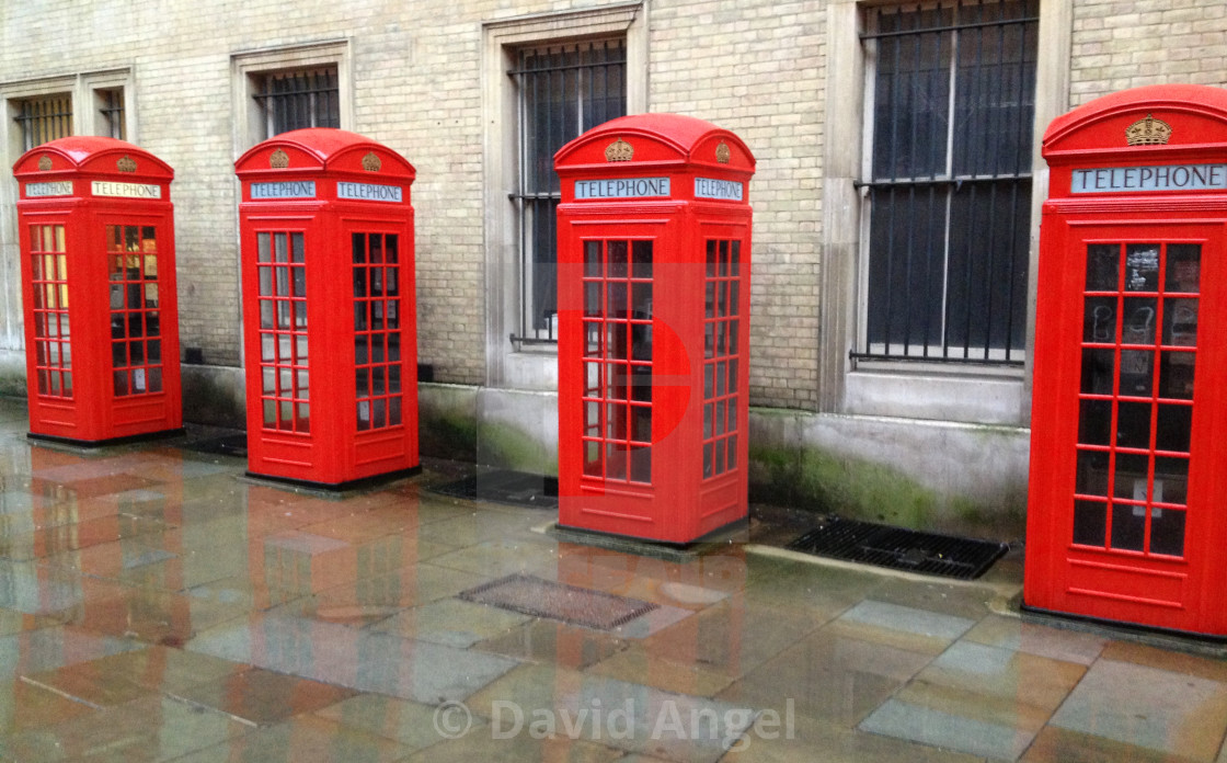 """London phone boxes"" stock image"