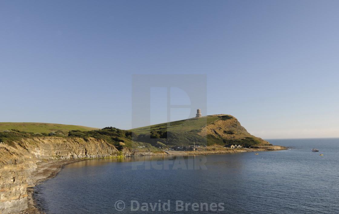 """Kimmeridge Bay Jurassic Coast Isle of Purbeck Dorset England"" stock image"