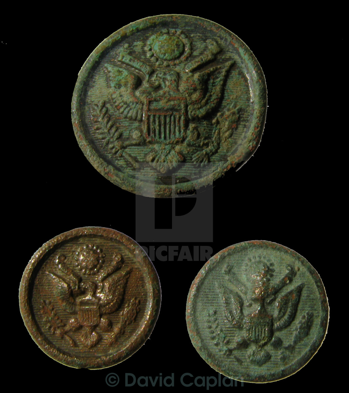 WW2 USA Military Buttons - License, download or print for