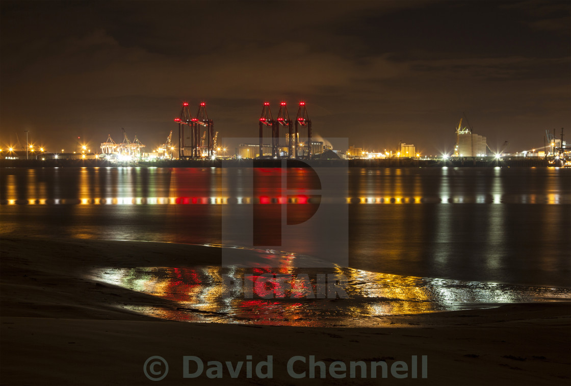 """Liverpool Docks Lightshow"" stock image"
