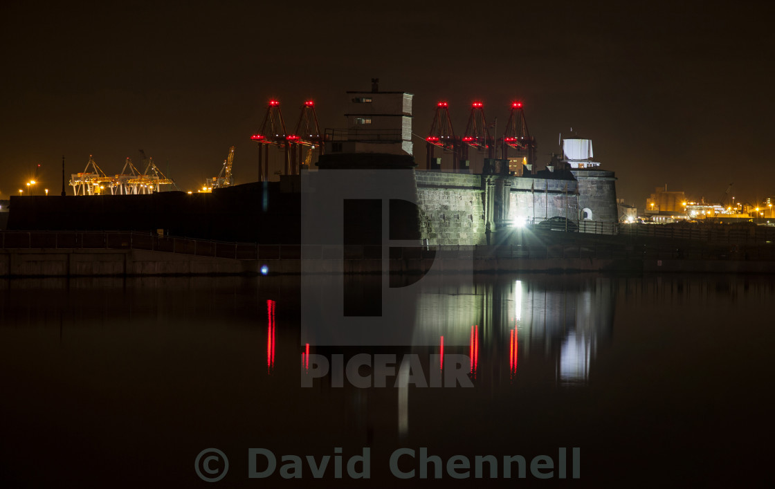 """""""Fort Perch Rock"""" stock image"""